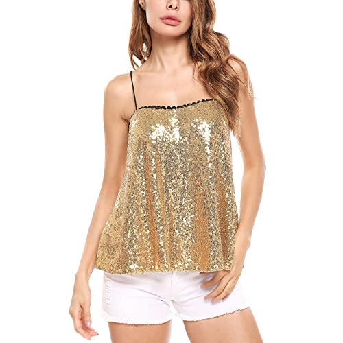 3f8dc0af Beyove Women's Sleeveless Sequin Tunic Tops Sexy Glitter Club Party Mini  Dress