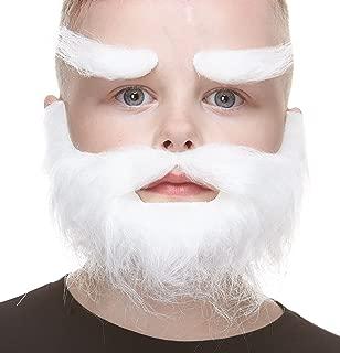 Mustaches Fake Beard and Eyebrows, Self Adhesive, Small, Realistic Traper False Facial Hair for Kids