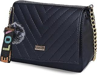 Fargo Leatherette Side Sling Bags For Women's Ladies (Black_FGO-270)