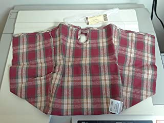 Longaberger Large Fruit Basket Orchard Park Plaid Fabric Liner Over Edge New In Bag