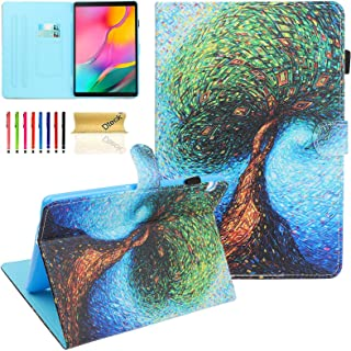 Wallet Case for Huawei MediaPad T5 10 Case - Dteck PU Leather Slim Fit Folio Folding Multi Angle Stand Protective Cover fo...