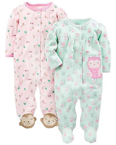 c07b434e7 Toddler Footed Pajamas Girls  Amazon.com