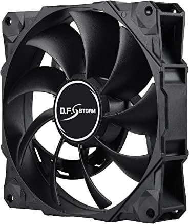 Enermax D.F. Storm 120mm Dust Free Rotation Technology High Performance 3,500 RPM with 3 peak RPM options and 4-pin PWM connector Case Fan, UCDFS12P