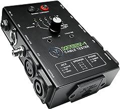 Mackie Comprobador de cables, interruptor de 6 vías de prueba de conector alimentado por batería (MTest-1)