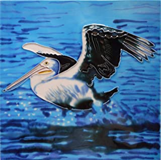 Seagull Ceramic Art Tile 8 x 8 inches with Easel Back