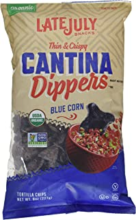 Late July Cantina Dippers Blue Corn Tortilla Chips, 8 oz