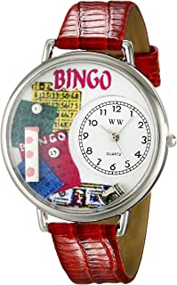 Whimsical Watches Unisex U0430007 Bingo Red Leather Watch