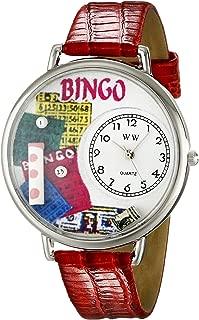 Whimsical Watches Unisex U0430007 Bingo Red Leather Watch
