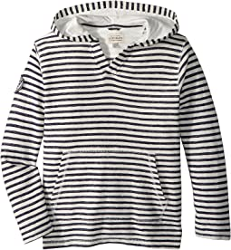 Lucky Brand Kids - V-Neck Striped Hoodie (Big Kids)