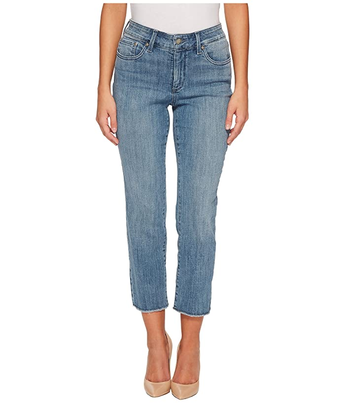 NYDJ Womens Petite Size Sheri Slim Ankle with Fray Hem Jean
