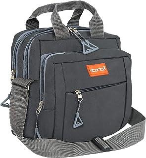 Storite Stylish Nylon Sling Cross Body Travel Office Business Messenger Bag for Men Women (22.5cm x 9.5cm x 22.5 cm, Dark ...