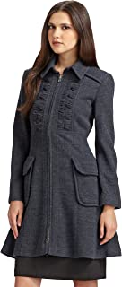 Nanette Lepore Provocative A-Line Coat, Gray/Blue, 10