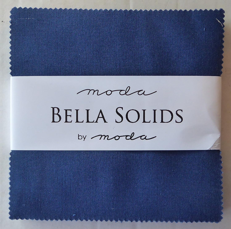 Nautical Blue Moda Bella Solids Charm Pack by Moda Fabrics; 42-5