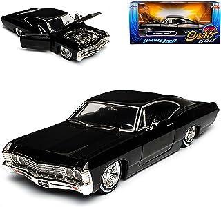 Kinsmart Chevrolet Impala Sport Sedan Limousine Schwarz bekannt aus Supernatural Join The Hunt 1965-1970 ca 1//43 1//36 Modell Auto mit individiuellem Wunschkennzeichen