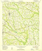 Georgia Maps - 1950 Gough, GA USGS Historical Topographic Map - Cartography Wall Art - 44in x 55in