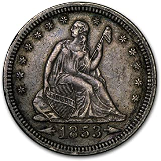 1853 Liberty Seated Quarter w/Arrows & Rays XF Quarter Extremely Fine