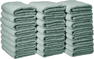 AmazonBasics Cotton Hand Towels - Pack of 24, Seafoam Green
