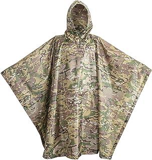 USGI Industries Military Spec Poncho - Emergency Tent, Shelter, Multi Use Rip Stop Camo Survival Rain Poncho
