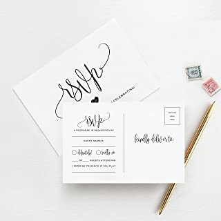 inexpensive wedding invitations with rsvp cards