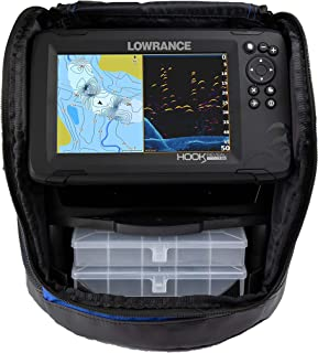 Lowrance Hook Reveal 7 SplitShot Ice Pack - 7-inch Fish Finder with Ice Transducer, Preloaded C-MAP US Inland Mapping