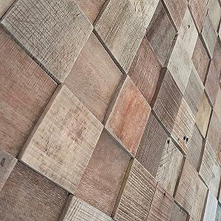 Revestimiento de pared de madera natural 3D, 6 unidades, 37,