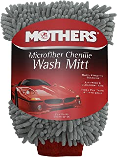 Mothers 968801 Premium Chenille Car Wash Mitt - Scratch & Lint Free