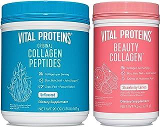 Vital Proteins Collagen Powder 20oz & Strawberry Lemon Beauty Collagen 9.6oz