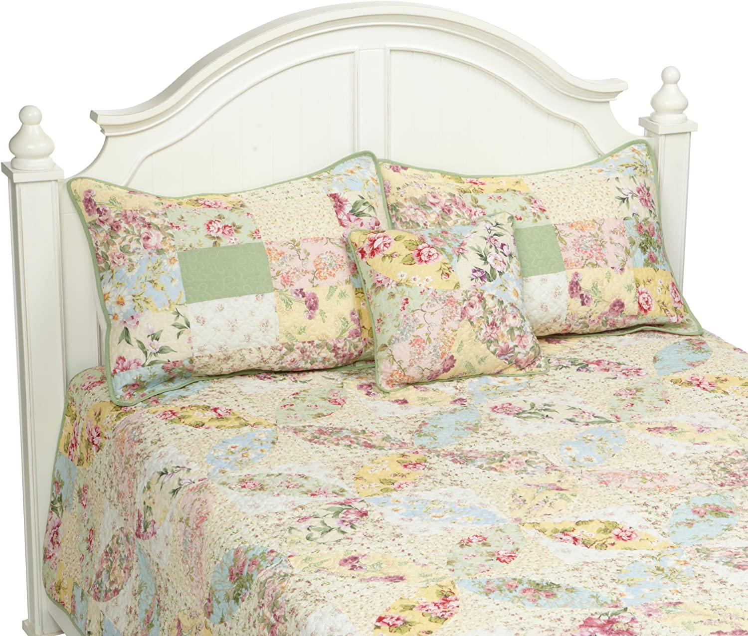 Hedaya Home Limited time trial price Fashions Flores Full Multi Queen Set Quilt Max 74% OFF