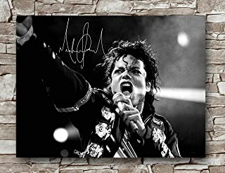 Zero.o Michael Jackson Autographed Poster Standard Size   18-Inches by 24-Inches   Michael Jackson Performance Posters Wall Poster Print