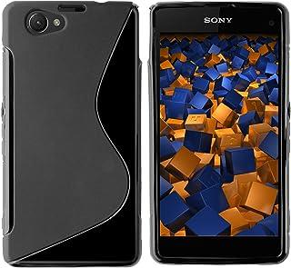 mumbi S-TPU Funda Compatible con Sony Xperia Z1 Compact, Negro