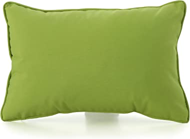 Christopher Knight Home Coronado Outdoor Square Water Resistant Pillows, 2-Pcs Set, Green