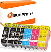10 Bubprint Druckerpatronen kompatibel für Canon PGI-525 CLI-526 für Pixma MG-5150 MG-5250 MG-5350 MG-7150 MG-5300 MG-6150 IP-4850 MX-885 Multipack