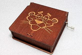 Pink Panther Music Box - #4 - Engraved Wooden Box -