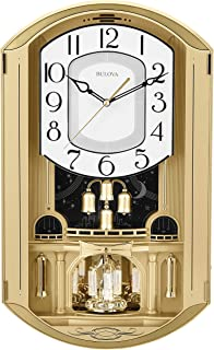 Bulova Golden Music Strike & Chime Wall Clock, Gold