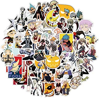 Soul Eater Stickers 50PCS Japanese Anime Stickers for Laptop Water Bottle Luggage Snowboard Bicycle Skateboard Decal for K...