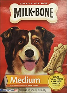 3 Pack - Milk Bone Medium Biscuits For Dogs Over 20 Lbs, 24 Ounce Box (17 Ounce)