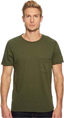 7 For All Mankind - Short Sleeve Raw Pocket Crew