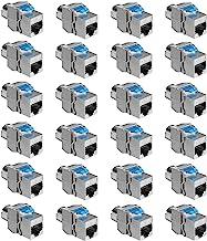 kwmobile 24x Module Keystone Catégorie 8-24 Modules de Brassage pour Branchement Câble RJ45 Raccord Blindé - Connexion à P...