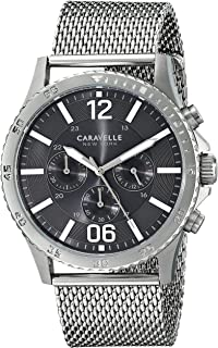Caravelle New York Men's 43A129 Analog Display Analog Quartz White Watch