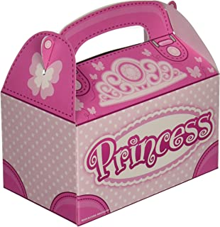 Pink Princess Party Favor Treat Boxes (12 Boxes Total)