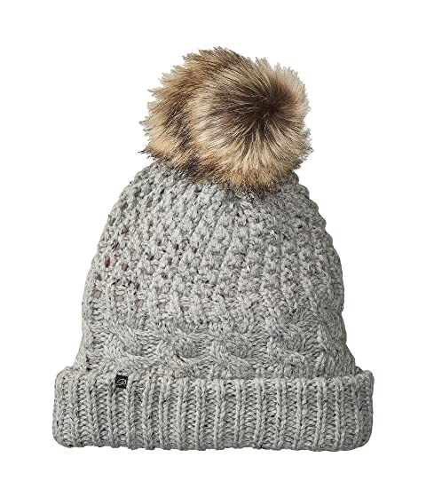 Plush Fleece-Lined Chunky Knit Hat with Faux Fur Pom Pom at Zappos.com 61d572050e0