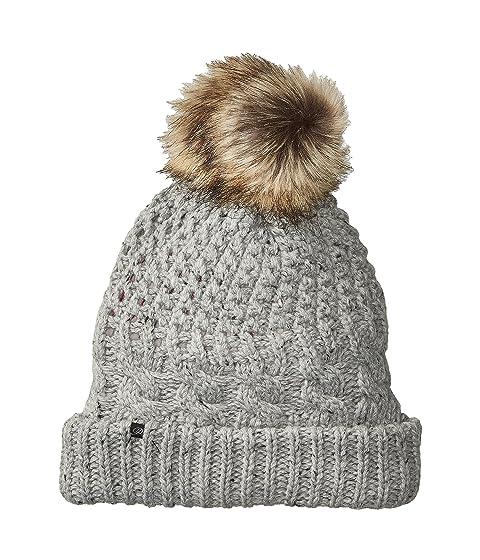 Plush Fleece-Lined Chunky Knit Hat with Faux Fur Pom Pom at Zappos.com b546707bcc3a