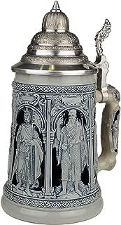 Beer Stein by King - Thewalt 1894 Crusader Relief German Beer Stein (Beer Mug) 1l Limited