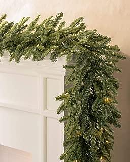 Balsam Hill Fraser Fir Prelit Artificial Christmas Garland, 6 Feet, LED Clear Lights