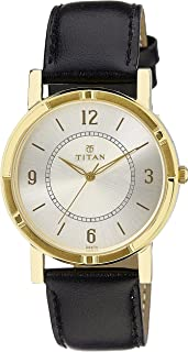 TITAN Gents's Silver Dial Color Leather Strap Watch - 1639YL02