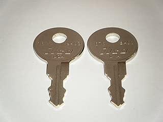 Bauer J330 Key Camper Shell, ,RV T-handle, Truck Caps, 2 Keys - J330, J 330