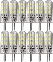 12x G4 1,5-2,0 Watt dimbaar 12V DC of 12V AC/DC warm wit 3000K geschikt voor dimmer pin socket 360° lamp lamp fitting spot...