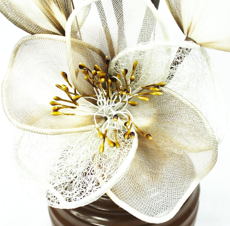 Artic Blue Flourish 791056-813 Light Hand Sprayed Vase with Teal White Mini Mesh Flower Single