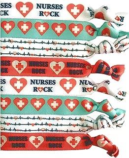 8 Piece Nursing Hair Elastic Set - Great Gift - Accessories for Nurses, Women, Girls, Teachers, Nursing School Classmates, Appreciation Week, Graduation, Colleagues and Friends -MADE in the USA