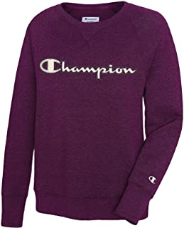 Champion Fleece Logo Boyfriend Crewneck Top